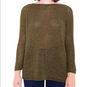 American apparel moss Delphine tunic knit sweater